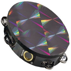 "8"" Single Row Black Prizmatic Tambourine"
