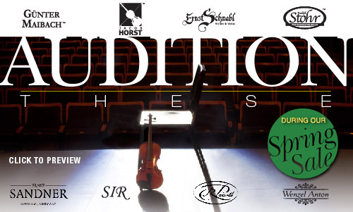 Audition These Orchestra Instrument Set-Up Sale