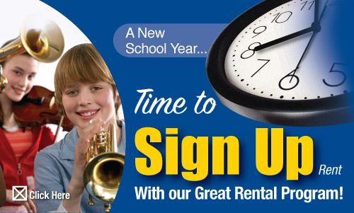Time to Rent - Back To School - Instrument Rental Online